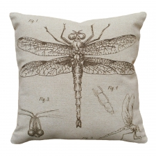 Dragonfly Linen Pillow