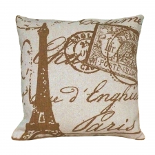 Parisian Post Stamp Linen Pillow