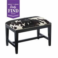 Privas Cowhide Bench - Daily Find made by Sunpan.