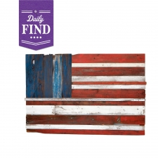 American Flag on Reclaimed Wood - Daily Find