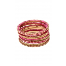 Nissa Bangle Set - Fuschia 8