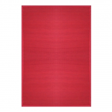 Villager Bamboo Rug, Crimson
