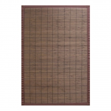 Villager Bamboo Rug, Coffee