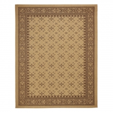 Crème/Brown Murat Outdoor Rug, 5' x 8'