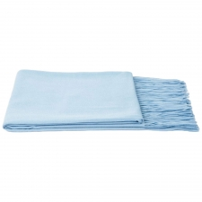 100% Cashmere Throw, Bbay Blue