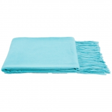 100% Cashmere Throw, Blue Oasis