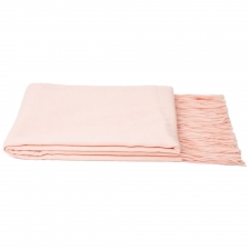 100% Cashmere Throw, Baby Pink