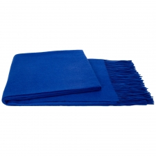 100% Cashmere Throw, Cobalt