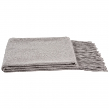 100% Cashmere Throw, Gray