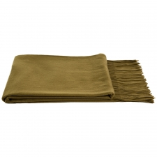 100% Cashmere Throw, Olive