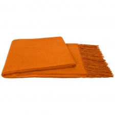 100% Cashmere Throw, Paprika