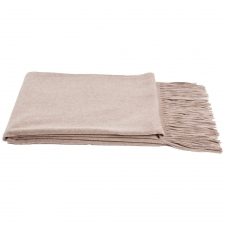 100% Cashmere Throw, Sand