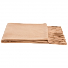 Cashmere & Wool Houndstooth Throw, Camel