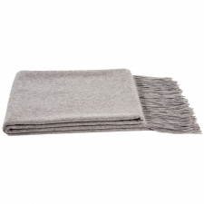 Cashmere & Wool Houndstooth Throw, Heather Gray
