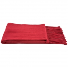Cashmere & Wool Houndstooth Throw, Merlot