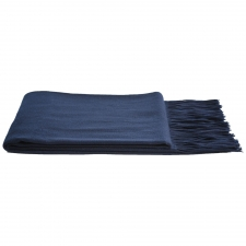 Cashmere & Wool Houndstooth Throw, Navy