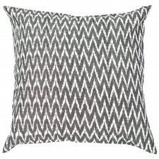"20"" X 20"" Cotton Pillow,  Black"