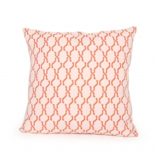 Reversible Knotts Pillow, Orange