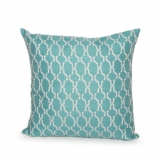 Reversible Clements Pillow, Turquoise