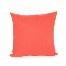 Solid Vallarta Pillow, Coral