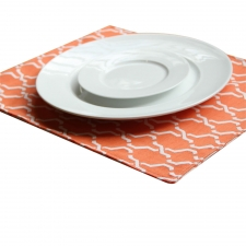 Set of 4 Reversible Harbor Placemats, Orange