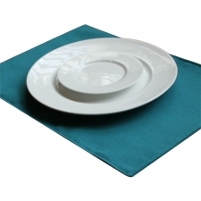 Set of 4 Solid Deno Placemats, Aqua
