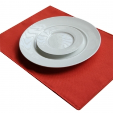 Set of 4 Solid Idlewind Placemats, Coral