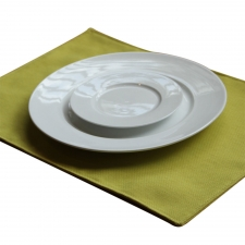 Set of 4 Solid Hoffman Placemats, Chartreuse