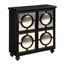 Politiers Mirrored Cabinet, Black