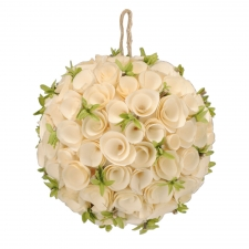 Birch Rosette Ornament, Medium