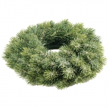 "10"" Pine Snow Wreath"