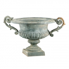 Iron French Urn, Green