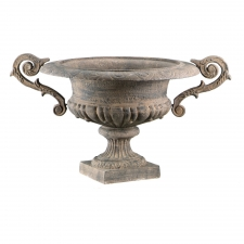 Iron French Urn, Brown