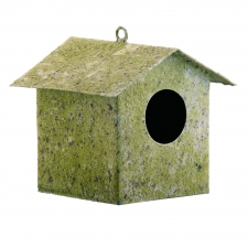 Moss Birdhouses, Set of 2