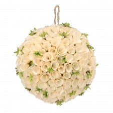 Birch Rosette Ornament, Large