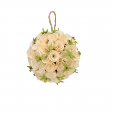 Birch Rosette Ornament, Small