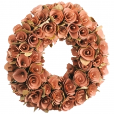 "13"" Birch Rosette Brown Wreath"