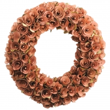 "17"" Birch Rosette Brown Wreath"