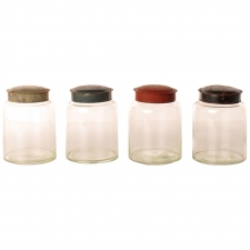 Vintage Pharmacy Jars, Set of 4