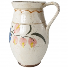 Ceramic Pitcher with Blue Flowers, Small