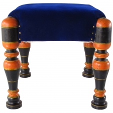 Medina Stool with Orange Legs