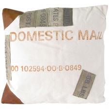 Domestic Mail Canvas Pillow