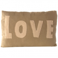 Love Pillow with Stitched Letters