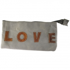 "6"" x 12"" Love Canvas Pouch"