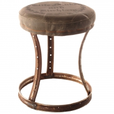 Canvas Bicycle Wheel Stool