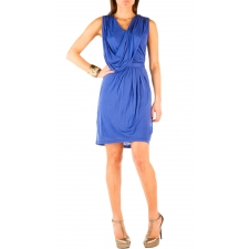 Belted Drape Dress - Lagoon - M