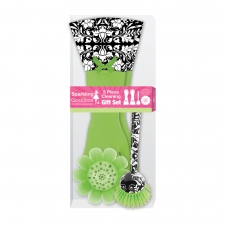 3-Piece Cleaning Gift Set, Green