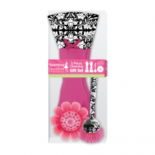 3-Piece Cleaning Gift Set , Pink