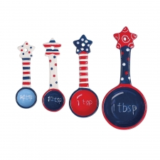 S/4 Patriotic Measuring Spoons