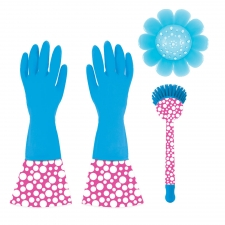 3-Piece Cleaning Set, Blue